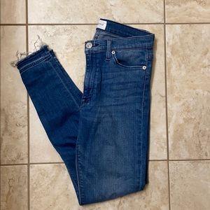 hudson high waist super skinny barbara jeans 27